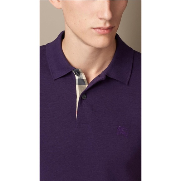 eb42254e0 Burberry Shirts | Purple Polo | Poshmark
